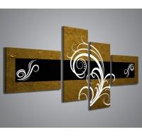 Abstract Essence Oro Nero - 160x70cm
