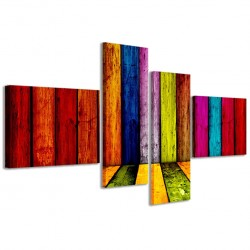 Multicolored Wooden 160x70