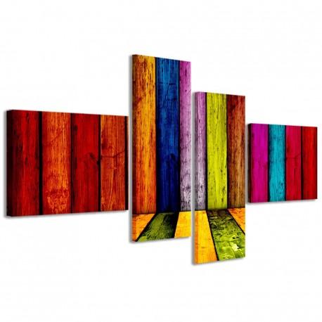 Multicolored Wooden 160x70 - 1