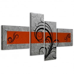 Abstract Essence Argento Arancione 160x70