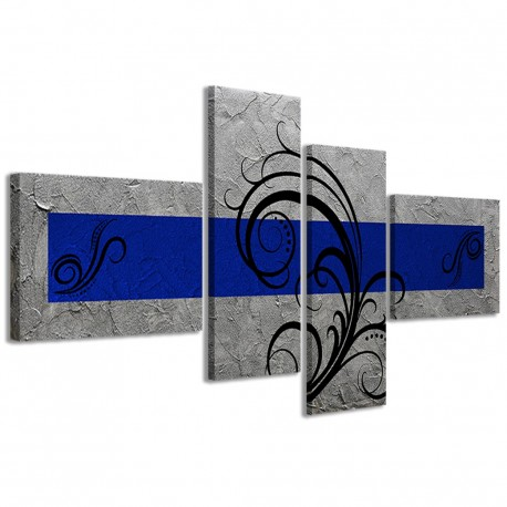 Abstract Essence Argento Blu 160x70 - 1