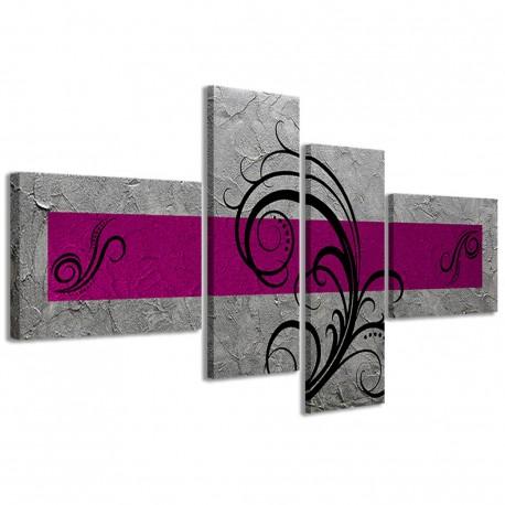 Abstract Essence Argento Fucsia 160x70 - 1
