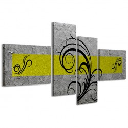 Abstract Essence Argento Giallo 160x70