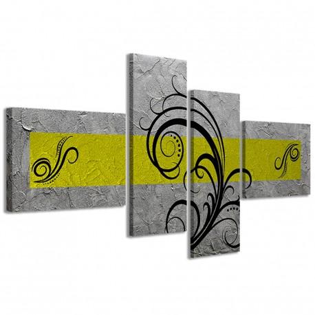Abstract Essence Argento Giallo 160x70 - 1
