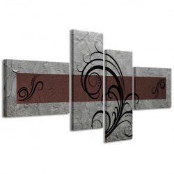 Abstract Essence Argento Marrone 160x70 - 1