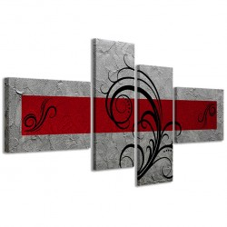 Abstract Essence Argento Rosso 160x70 - 1