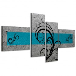 Abstract Essence Argento Turchese 160x70 - 1