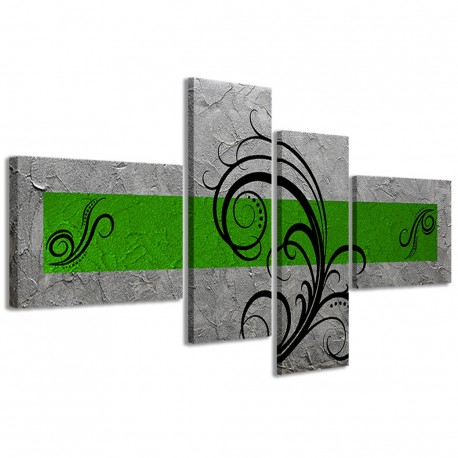 Abstract Essence Argento Verde 160x70 - 1