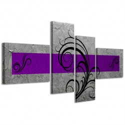 Abstract Essence Argento Viola 160x70