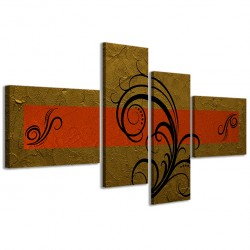 Abstract Essence Oro Arancione 160x70