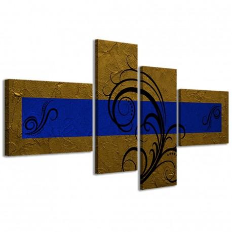 Abstract Essence Oro Blu 160x70 - 1