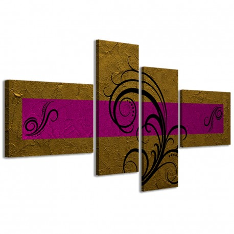 Abstract Essence Oro Fucsia 160x70 - 1