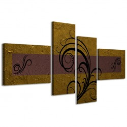 Abstract Essence Oro Marrone 160x70