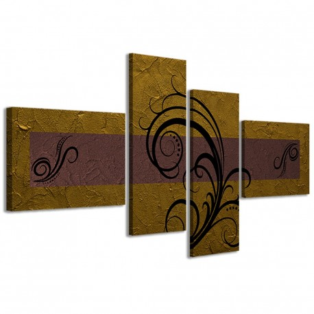 Abstract Essence Oro Marrone 160x70 - 1