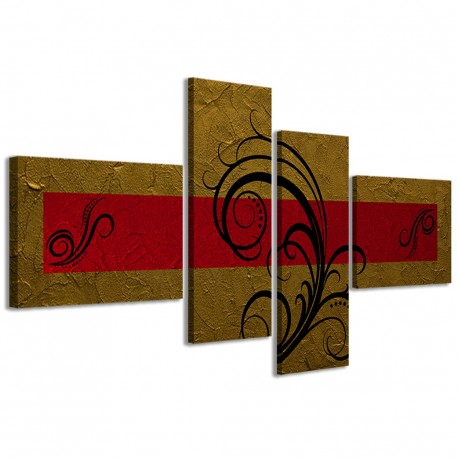 Abstract Essence Oro Rosso 160x70 - 1
