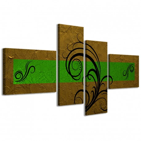 Abstract Essence Oro Verde 160x70 - 1