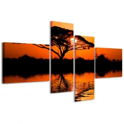 Beatiful African Sunrise Reflected 160x70 - 1