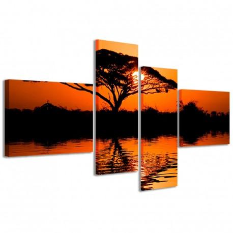 Beatiful African Sunrise Reflected 160x70 - 1