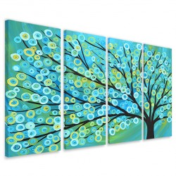 Blue Gold Tree 160x90
