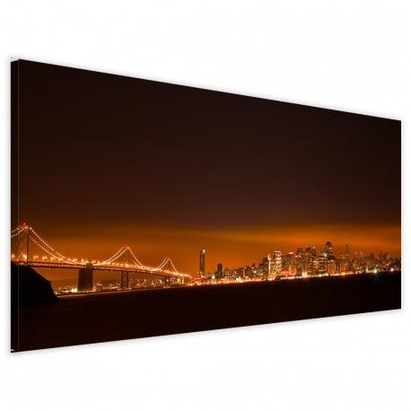 New York Bridge Night 40x90 - 1