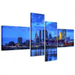 Night Blue City 160x70